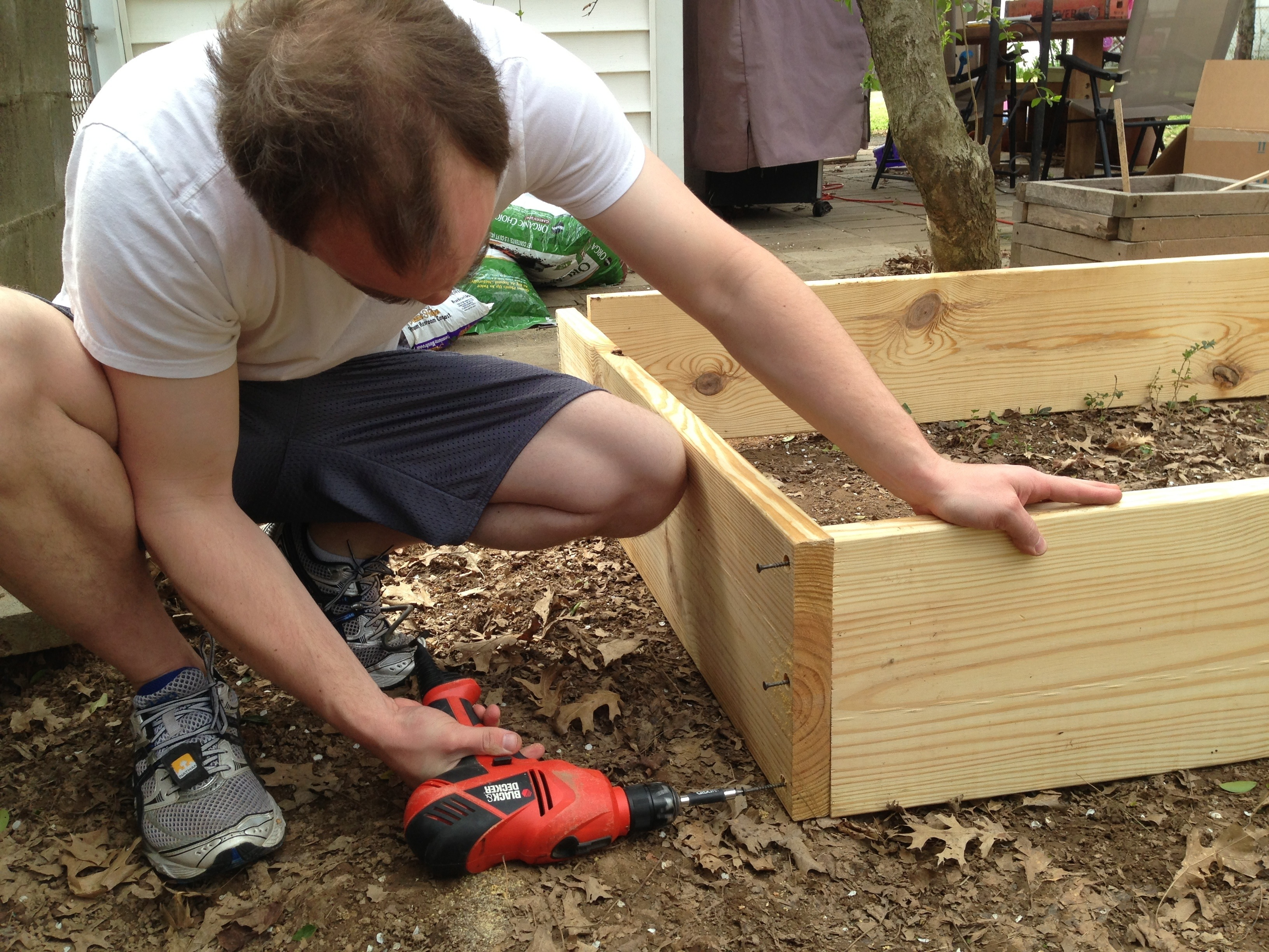 Building the raised garden bed