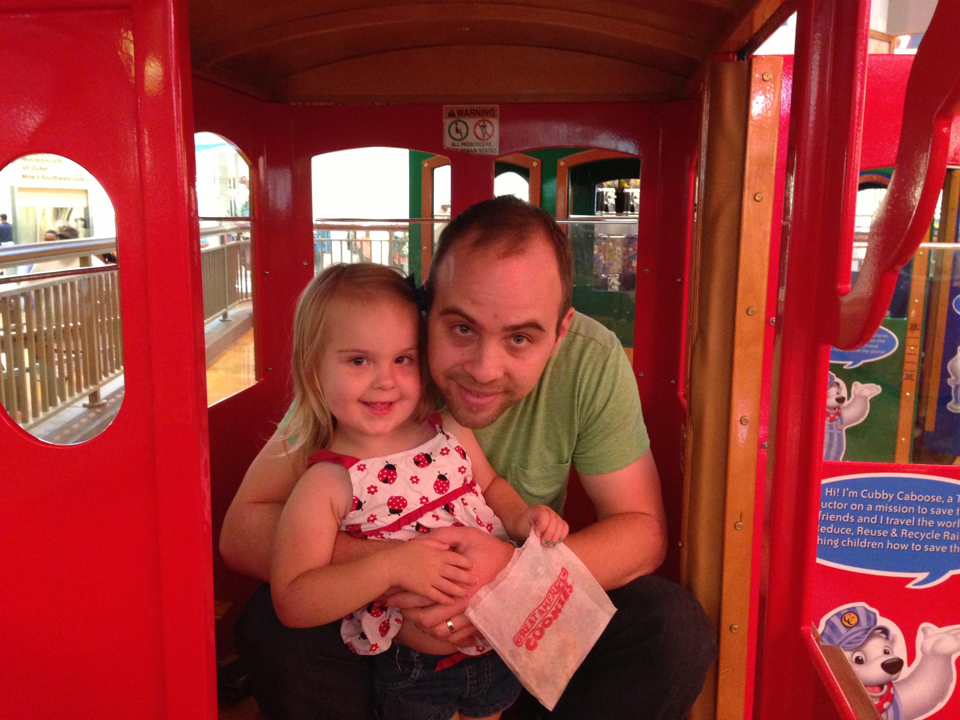 Chris and Mackenzie - Mall Train